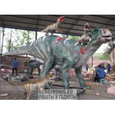 Динозавр Игуанодонт с детёнышами