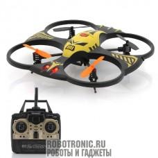Квадрокоптер с трехосевым дистанционным управлением до 100 метров